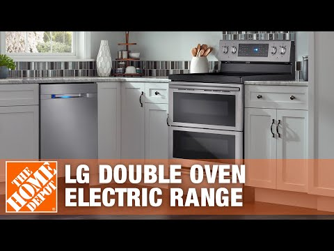 LG Electronics 30 in. Self-Cleaning Freestanding Double Oven Electric Range | The Home Depot