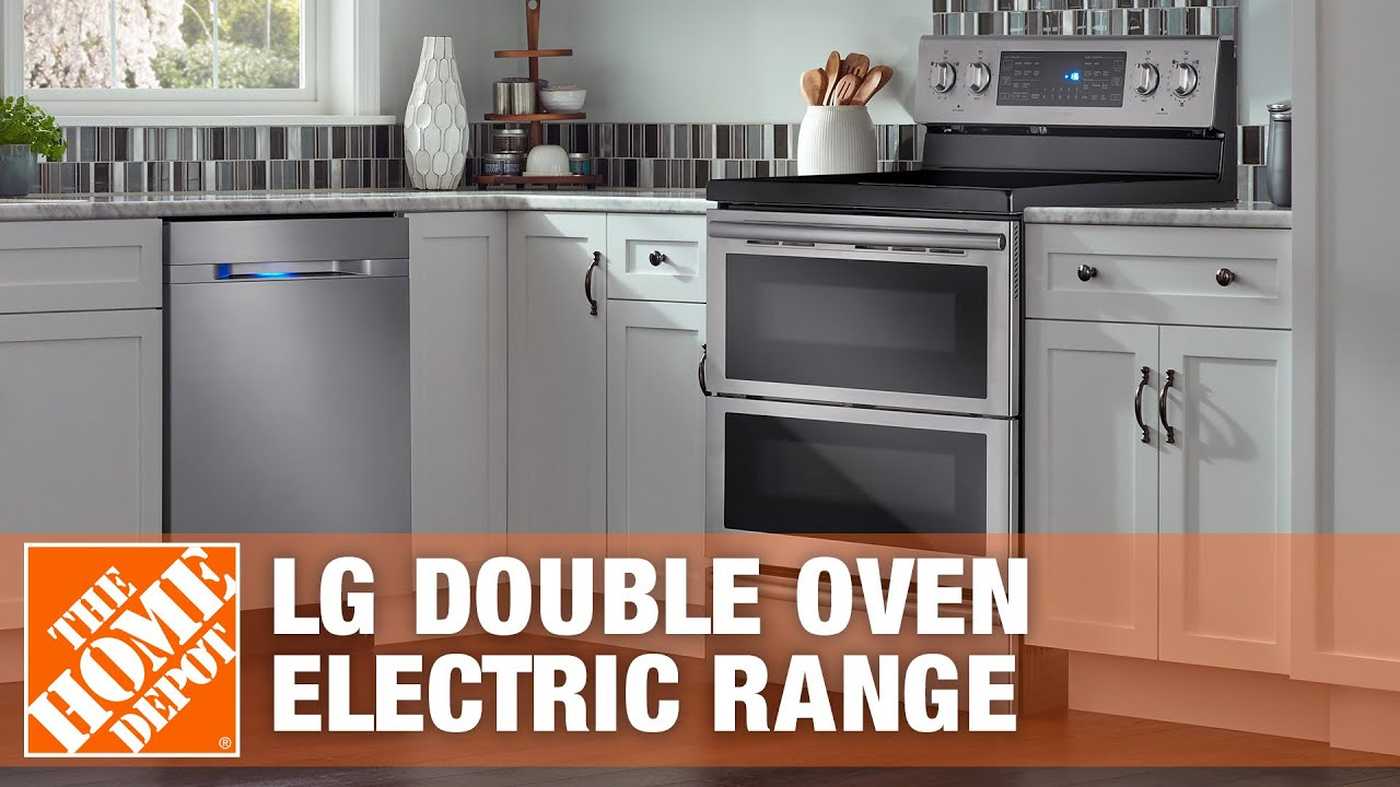 double oven electric range the home depot youtube