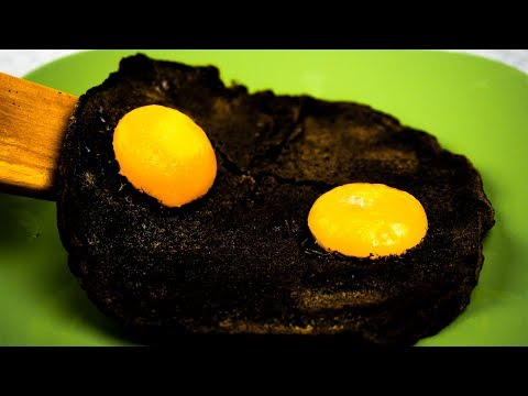 Black Fried Eggs with Incredibly Extraordinary Taste