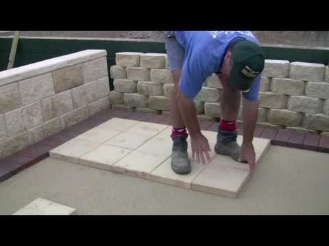 Laying Pavers Stage 3 Youtube