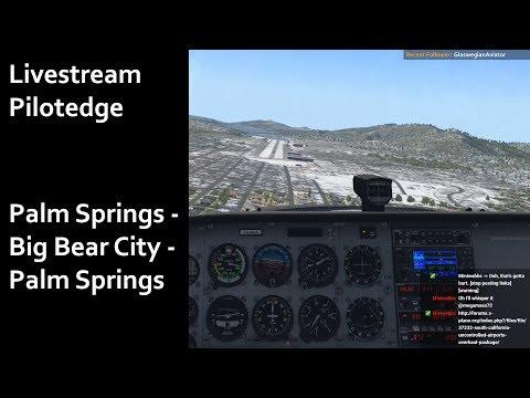 X-Plane 11 | Livestream | Pilotedge | Quick flight: Palm springs - Big Bear City - Palm Springs