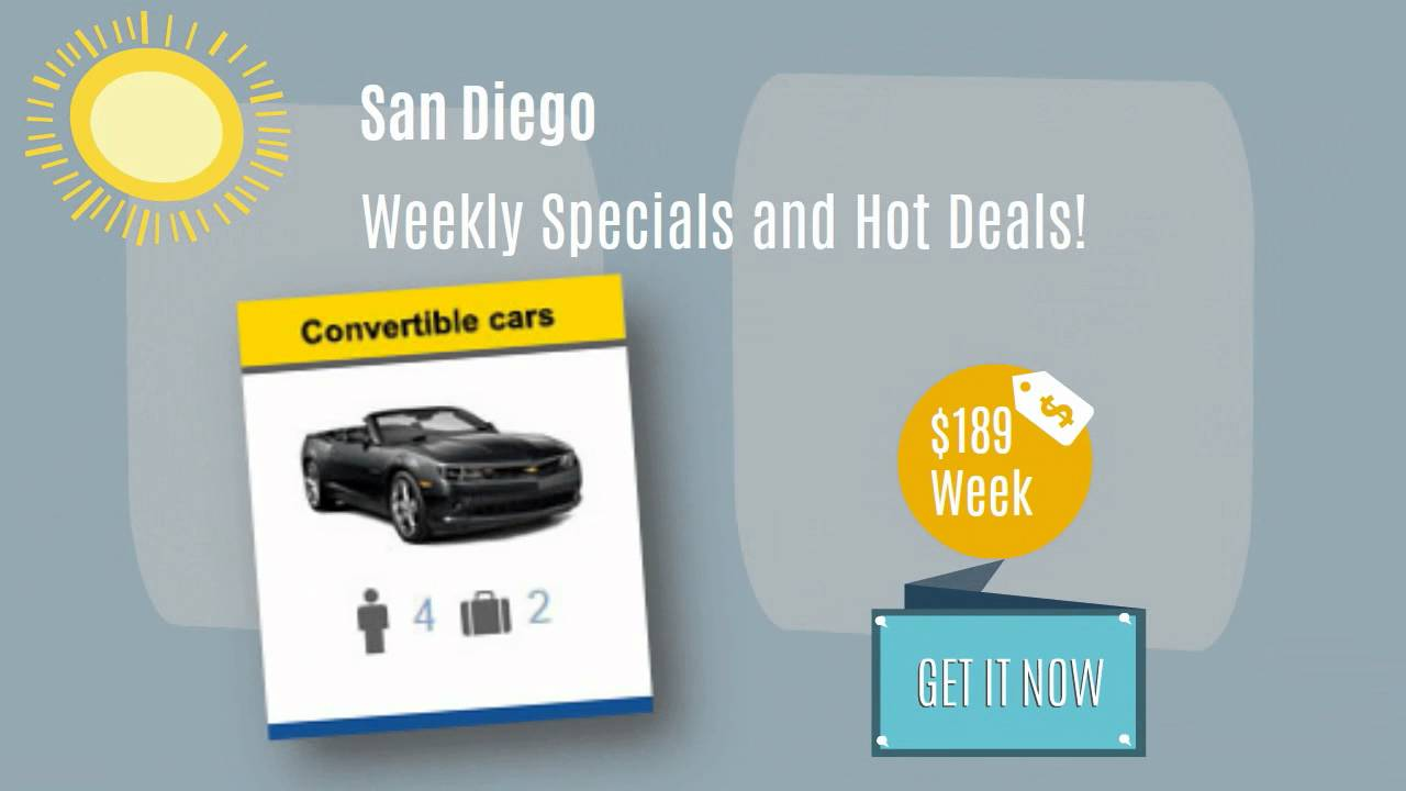San Diego Weekly Car Rental Specials Brought To You By