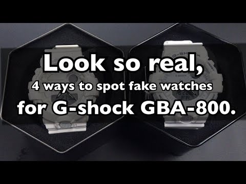 Look So Real, 4 Ways To Spot Fake Watches For Casio G-shock GBA-800. ( ENG )