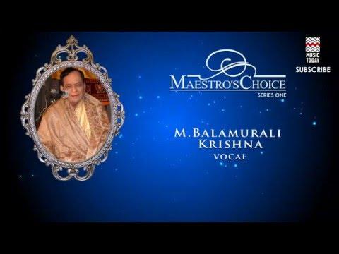 Omkara Lavangi - M  Balamurali Krishna(Album: Maestro's Choice)