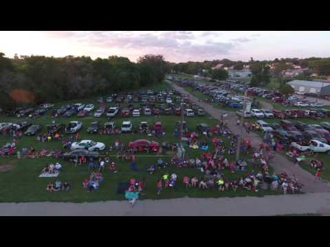 Kracklin Kirks Shootoff Aerial Video Parking Lot 2016 in Springfield, Nebraska