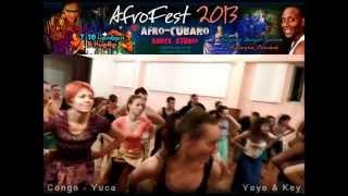 AfroFest2013 en Kiev. Yoyo & Key bailen YUCA