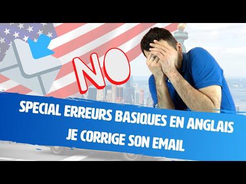 Spécial erreurs basiques en anglais - je corrige son email