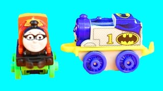Thomas & Friends Learn To Count Counting Minis Batcave With Batman Superman Robin Superhero Train
