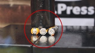 Crushing Batteries With Hydraulic Press! (SATISFYING)