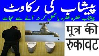 Peshab Ka Ruk Ruk K Ana Ya Peshab K Na Aany Ka ilaj / urdu / hindi .