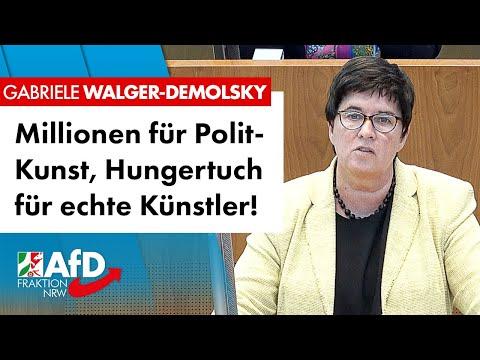 Millionen für Polit-Kunst, Hungertuch für echte Künstler! – Gabriele Walger-Demolsky (AfD)