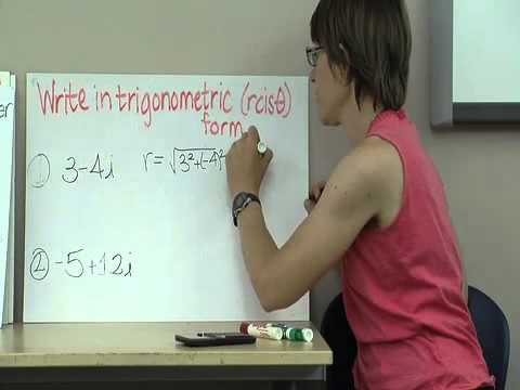 Precalculus Chapter 6 -- Trigonometric Form of a complex number ...