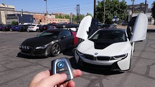Swapping out the Audi R8 for a BMW i8
