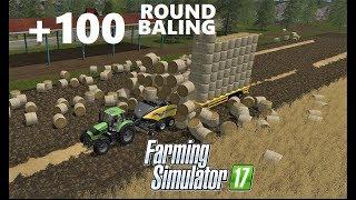 Farming Simulator 17 | +100 ROUND BALING TRAILER & VERY ROUND BALING