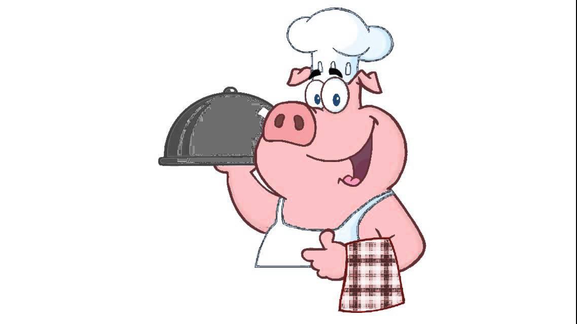 Cómo Dibujar Un Chef Cerdo Feliz