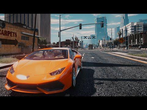 GTA V REDUX WITH MEGA REALISTIC CAR PACK GAMEPLAY