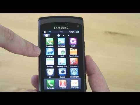 Samsung S8500 Wave Test Bedienung