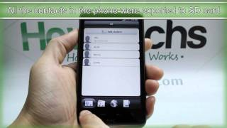 How to Export the Contacts on HTC Desire HD