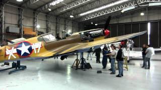 P-40 testing landinggear, Duxford.