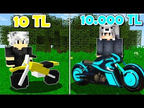 10 TL MOTORSİKLET VS 10.000 TL MOTORSİKLET! 😱 - Minecraft