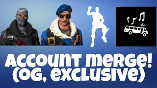 Fortnite: Account Merge Done! OG Season 1-2 Items, Exclusive!