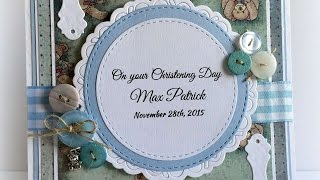 How To Make A Sweet Baby Boy Christening Card & Box - DIY Crafts Tutorial - Guidecentral