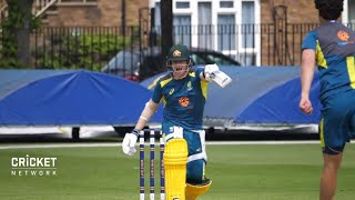 Smith, Warner shine in first training run