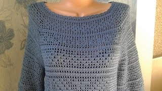 Платье крючком (филейное вязание) // Knit crochet dress // Women's knitting