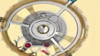 3D Animation of how a tourbillon watch is constructed.