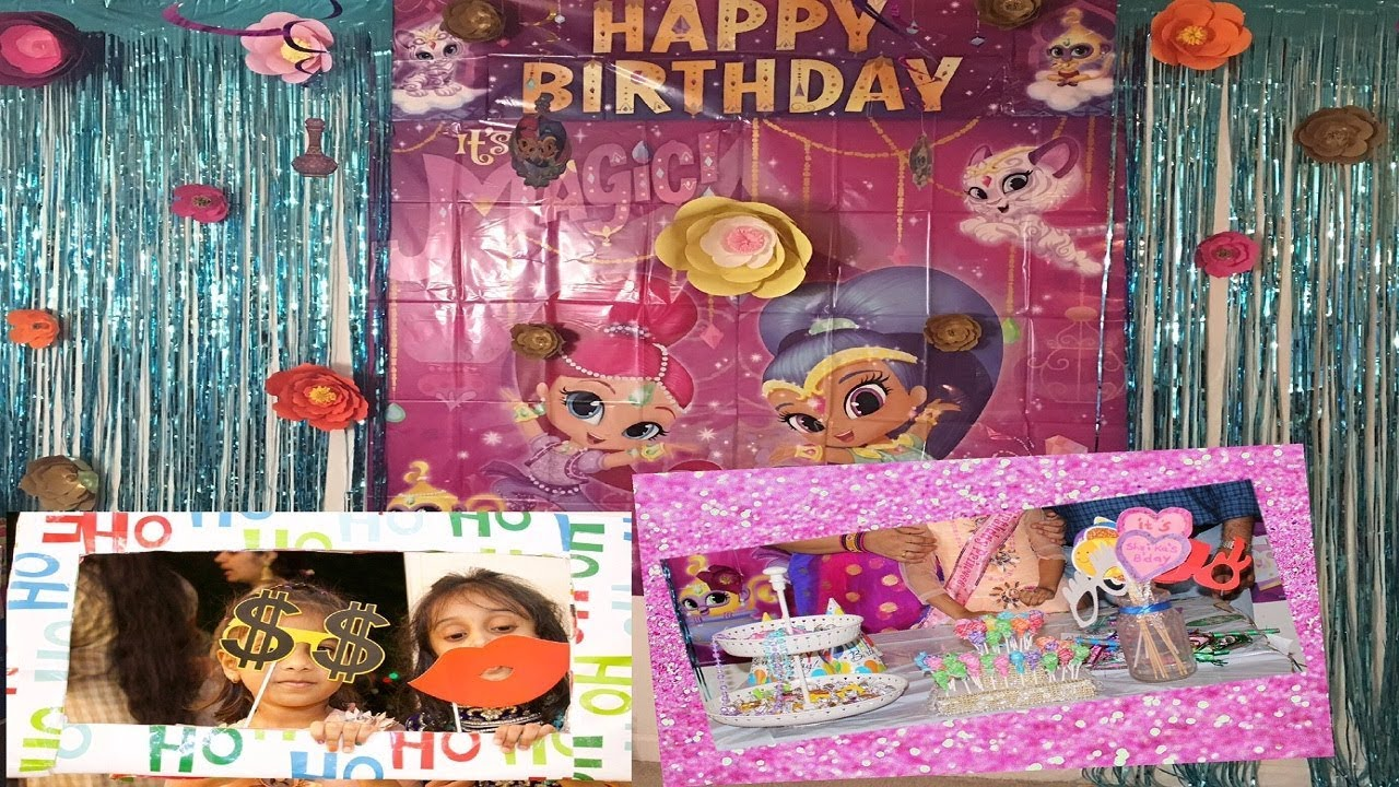 Shimmer And Shine Birthday Party Theme Ideas Decorations