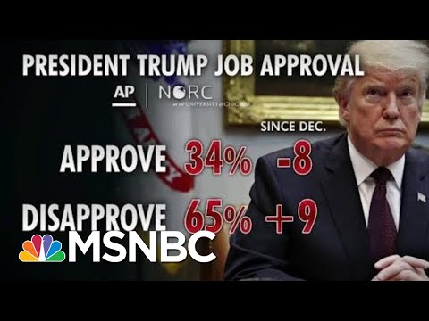 President Donald Trump's Job Approval Drops Eight Points In New Poll | Morning Joe | MSNBC