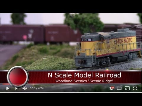 Scenic Ridge N Scale Model Railroad May 2017 Update