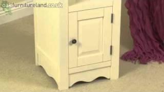 Cotswold Cream Painted Shaker Solid Oak Slim Jim Bookcase From Oak Furniture Land