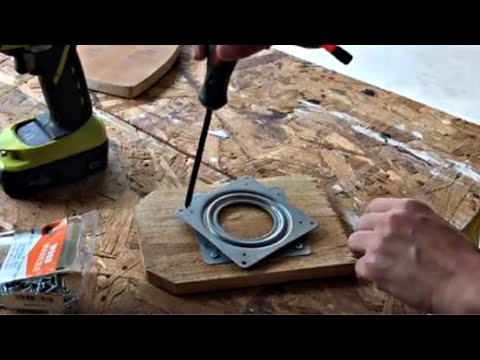 How to Make a Lazy Susan Turntable OR How to Use Lazy Susan Hardware