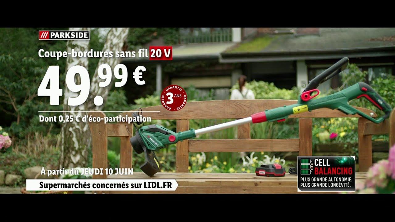 pub Lidl Coupe-bordures sans fil 20V Parkside «jeudi 10 juin 2021»  Juin 2021
