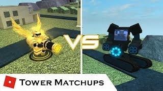 Neon Gatlings | Tower Matchups | Tower Battles [ROBLOX] ft. JOHN ROBLOX