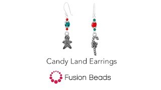 Learn how to create the Candy Land Earrings by Fusion Beads
