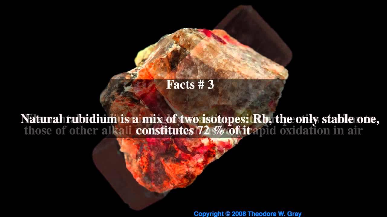 rubidium top 5 facts youtube