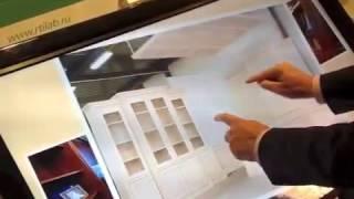 Интерактивный сенсорный стол для шоу рума мебельной компании(Приложение разработано для использования в шоу-руме мебельной компании