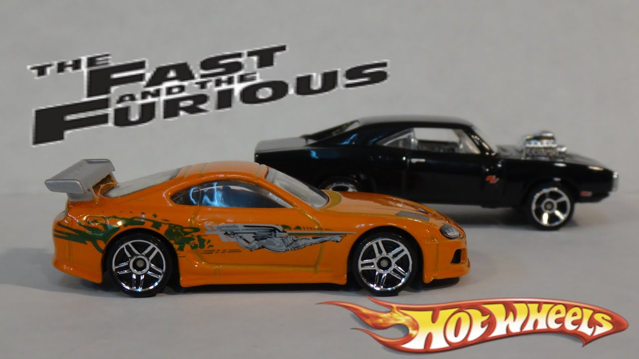 Supra Vs Charger >> The Fast and the Furious Race - Brian's Toyota Supra vs Dom's Dodge Charger - Hot Wheels - YouTube