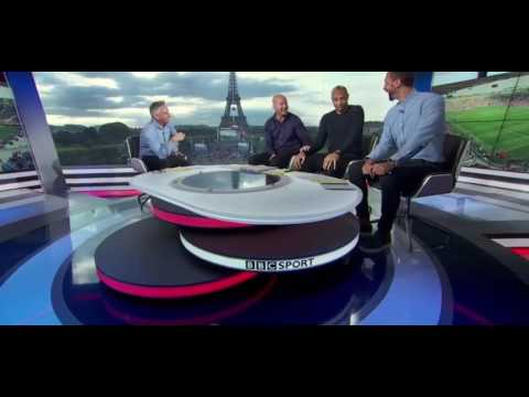 Thierry Henry Trolled in Live TV over Ireland penalty Euro 2016 XD