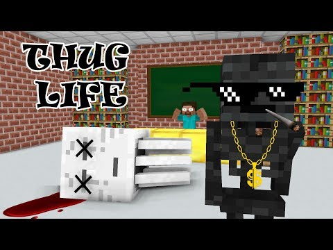 Monster School: THUG LIFE CHALLENGE - Minecraft Animation