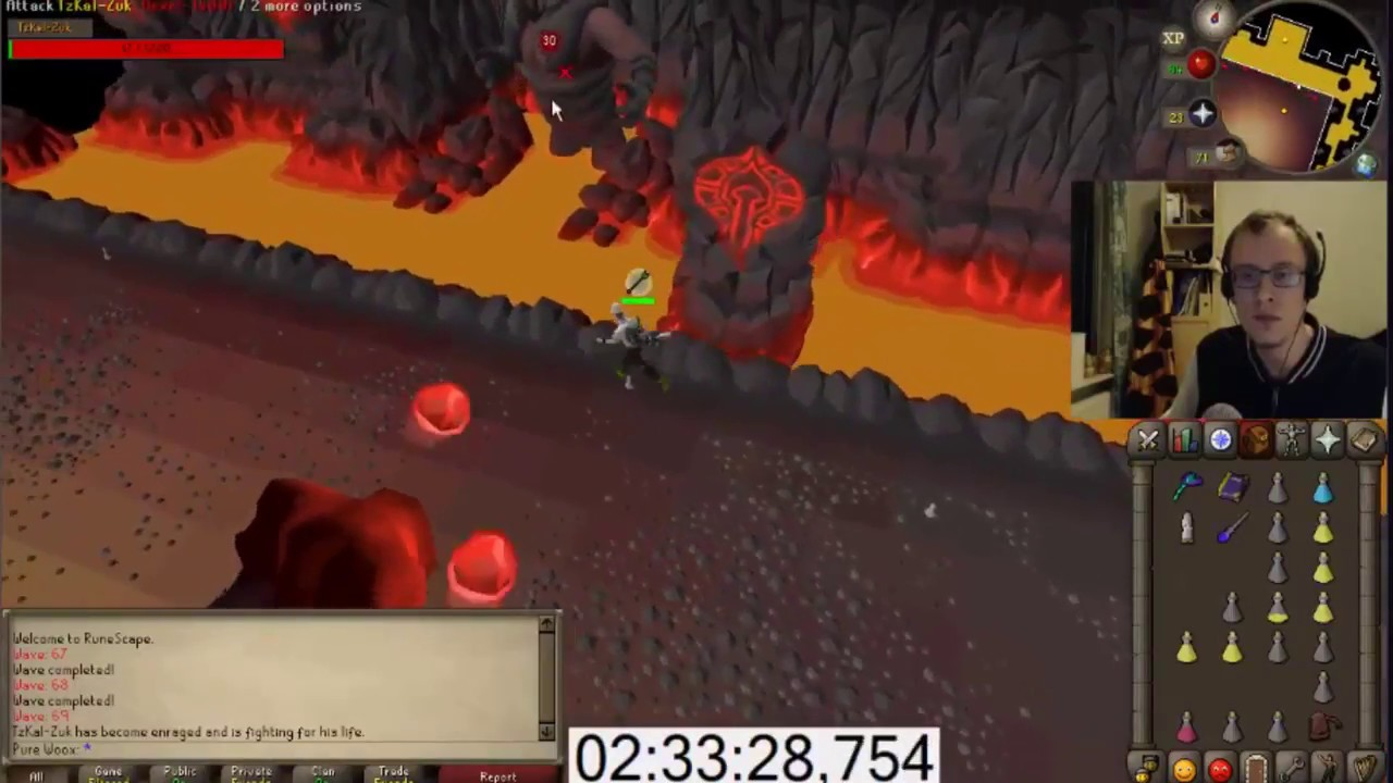 WOOX gets the first INFERNAL CAPE 1 Defence Pure (64 CMB)