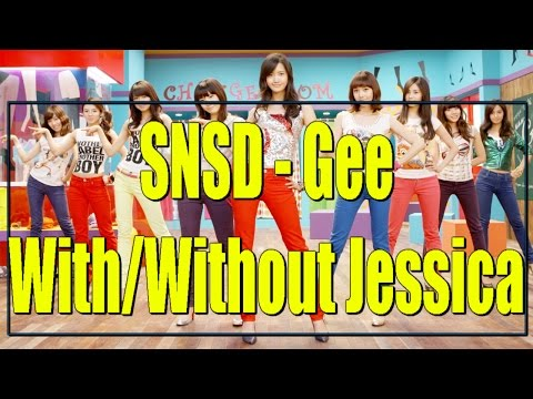 Girls'Generation - Gee With And Without Jessica