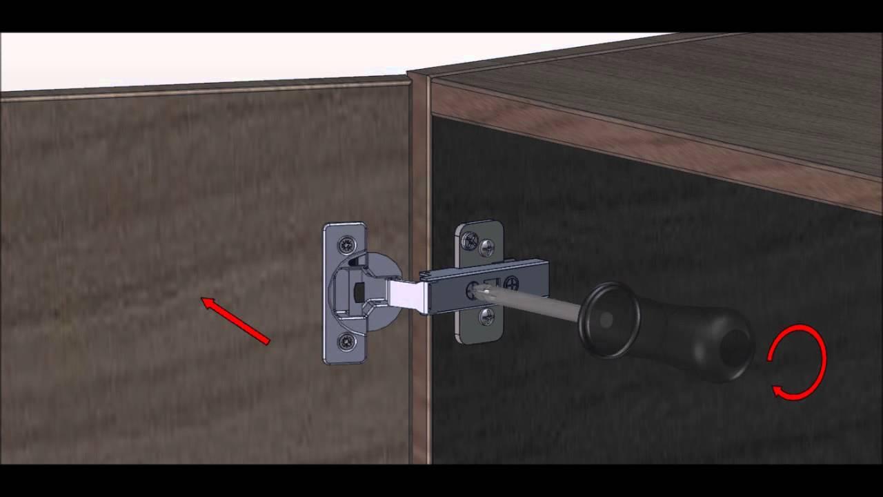 Keuken Scharnieren Blum : Riho support afstellen van een deur blum youtube