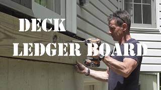 How to build a deck: Attaching the ledger board
