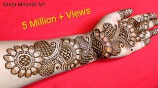 New full hand bridal arabic mehandi design | simple arabic mehndi designs for front hands | mehandi