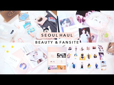 🌸  Pink Seoul Haul | Folder Shoes, Olive Young, Fansite Exhibition Goods  🌸