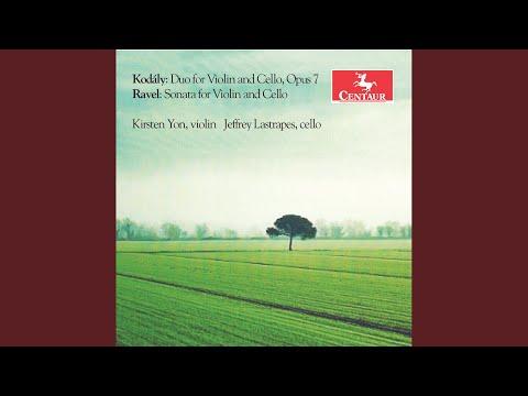 Duo for Violin & Cello in D Minor, Op. 7: I. Allegro serioso, non troppo