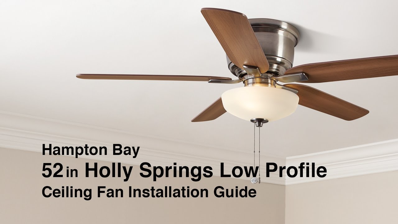 holly springs low profile ceiling fan from hampton bay - Low Profile Ceiling Fan